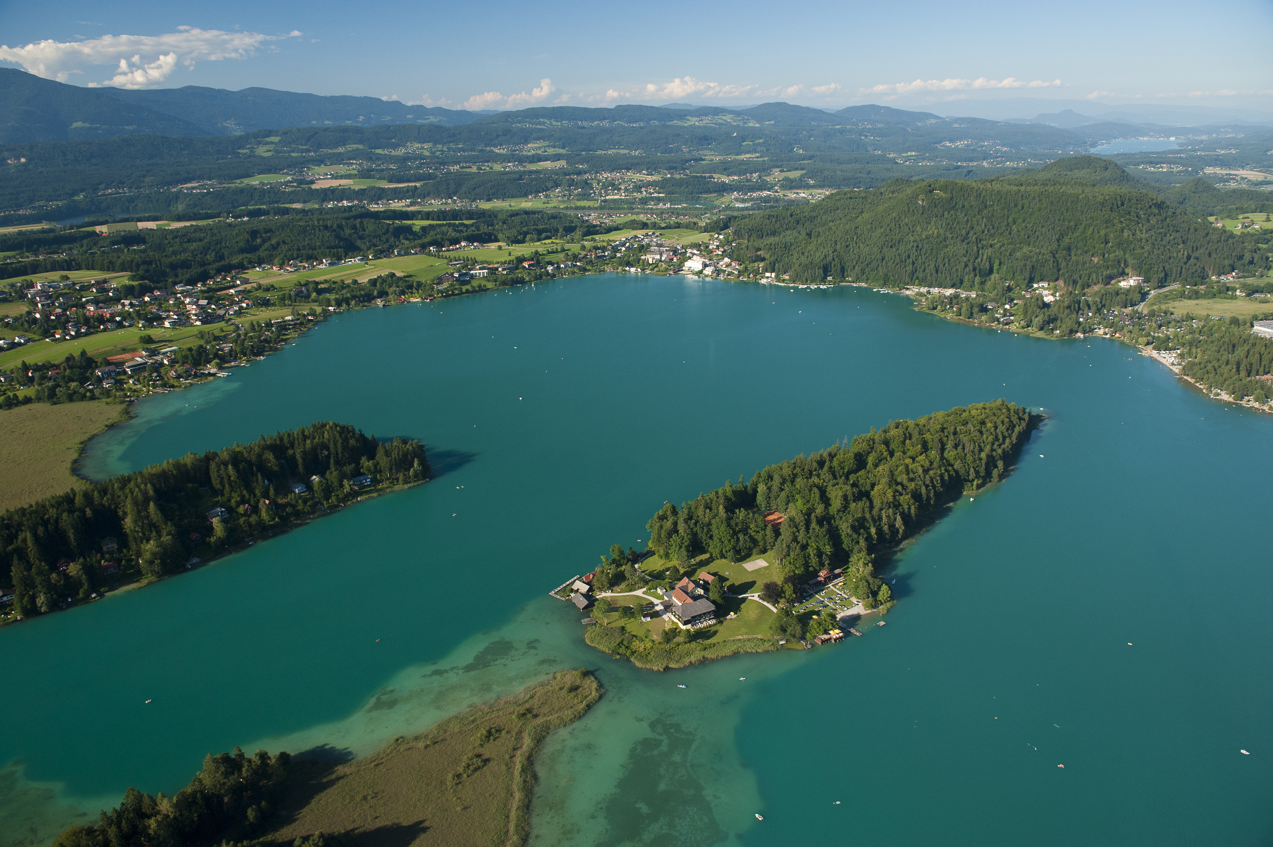 Kąpiel w jeziorze Faaker See